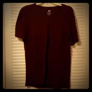 Mens v neck maroon